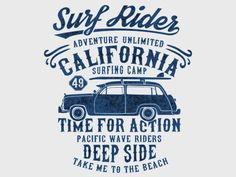 Surf typography t-shirt graphics