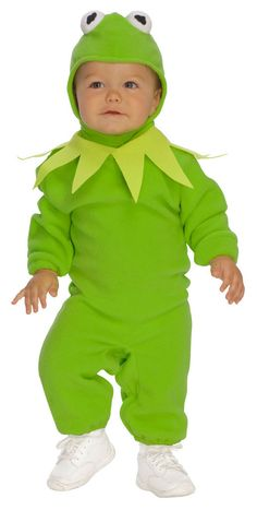 #885831 Ribbit, ribbit! Have your tot hop around this Halloween as Kermit the frog. The Kermit Costume includes a green romper with matching character headpiece. Size: 2-4T