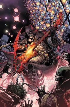 [Cover] Dark Nights: Death Metal variant cover by Doug Mahnke - DCcomics Batman Metal, Batman Dark, Batman The Dark Knight, Death Metal, Comic Book Artists, Comic Books Art, Comic Art, Arte Dc Comics, Marvel Comics