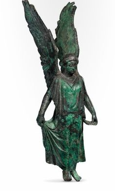 bronze statute of Winged Goddess Nike - from Etruscan culture, circa 4th c. B.C