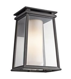 Kichler Lighting Lindstrom 1 Light Outdoor Wall Lantern in Rubbed Bronze 49402RZ #kichler #lightingnewyork #undercabinetlighting #outdoorlighting #lighting