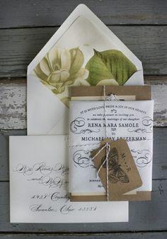 Antique botanical invites = perfection
