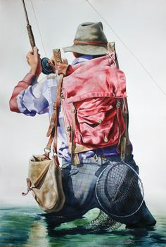 Cowboy and Fly Fishing Watercolor Prints for Sale - Nelson Boren