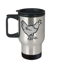 Funny Coffee Mug - Hen Lovers Mugs - Funny Farm Pet Animal Lover Saying Home Office Coffee Mug Tea Cup Travel Mug 14 OZ