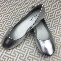 SILVER BALLET FLAT Shoe size 8.5 New Holiday Just in for summer - Multiple sizes available!!  Very comfortable and easy to slide on. Comes with original box. NEW NO TRADES Discounts with bundles only Shoes Flats & Loafers