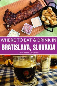 Pub Food, Food Menu, Blueberry Liquor, Slovakian Food, European City Breaks, Smoked Cheese, Bratislava Slovakia, Best Pubs, Food Places
