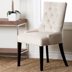 Abbyson Living Napa Fabric Tufted Dining Chair - Overstock™ Shopping - Great Deals on Abbyson Living Dining Chairs