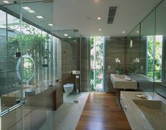 Glass Bathroom, Sunset Vale House by WOW Architects, Singapore