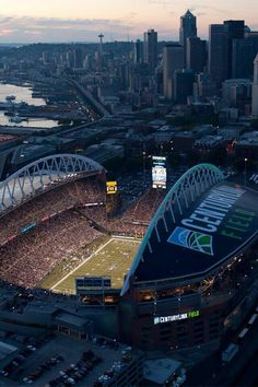 Seattle's Century Link Field home of the Seattle Seahawks (Next Super Bowl Champions!) & Seattle Sounders FC soccer Seattle's Century Link Field home of the Seattle Seahawks (Next Super Bowl Champions! Seattle Seahawks, Seattle Sounders, Seahawks Football, Seahawks Stadium, Sports Stadium, Seattle Washington, Washington State, Seattle Usa, Century Link