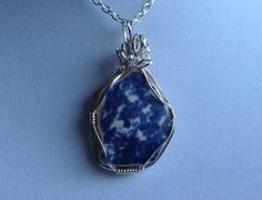 Genuine Blue Beach Pottery Shard Wire Wrapped in by DriftInJewelry, $28.00