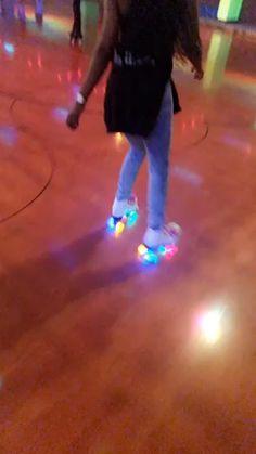 Epic Skates Epic Allure Light-Up Quad Roller Skates, White Roller Derby Clothes, Roller Skate Shoes, Quad Roller Skates, Roller Derby Girls, Disco Roller Skating, Pink Ankle Boots, Skater Girls, Freestyle, At Least