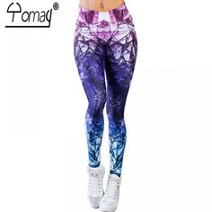 Printed Gym Leggings with Quick Dry Fabrics Price: 11.90 & FREE Shipping #gympants Printed Gym Leggings, Sports Leggings, Workout Leggings, Women's Leggings, Sports Trousers, Sport Pants, Mermaid Tights, Athleisure Fashion, Slim Pants