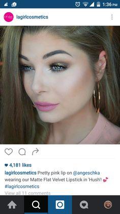 #lagirl #lip #swatch #purple #pink