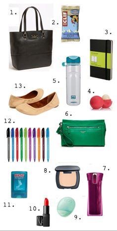 work bag essentials.