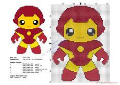 Baby Ironman Superheroes free cross stitch patterns