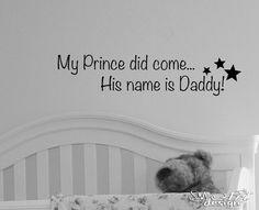 Princess Prince Name Daddy Vinyl Wall Decal Baby Bedroom Nursery Crib Star Girl   eBay