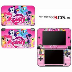 Amazon.com: My Little Pony Friendship is Magic Decorative Video Game Decal Cover Skin Protector for Nintendo 3DS XL: Video Games