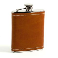 Bey-Berk Stitched Leather Flask $51.00