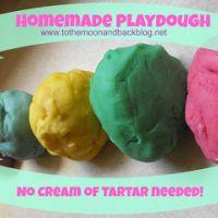 Homemade Playdough (No Cream of Tartar Needed!)