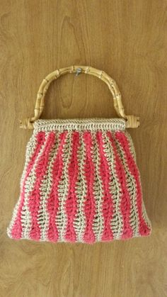 #Crochet Wavy Stitch Handbag Purse #TUTORIAL