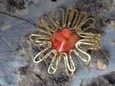 Sonnen Anhänger von LaSolis auf Etsy I Shop, Handmade Jewelry, Copper, Brooch, Etsy, Vintage, Stone, Silver, Craft Gifts