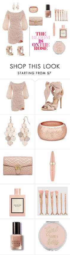 """""""Baddie"""" by slimster8343 on Polyvore featuring Zimmermann, Alexandre Birman, LC Lauren Conrad, Gucci, Maybelline and Bobbi Brown Cosmetics"""