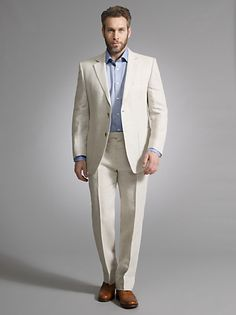 Le Château: Linen Contemporary Fit Blazer and Linen Straight Leg