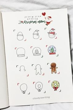 The ultimate collection of CHRISTMAS doodles for your bullet journal #bujodoodles #doodles #bulletjournal #bujoideas