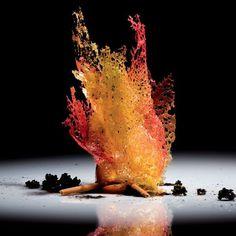 Molecular gastronomy by El Bulli Food Design, Plate Presentation, Think Food, Food Science, Food Decoration, Culinary Arts, Gourmet Recipes, Gourmet Desserts, Plated Desserts