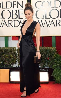 Katharine McPhee in Theyskens' Theory at the Golden Globes 2013.  Beautiful, but I sure wouldn't move around much in that! ha
