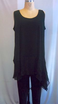 Coco and Juan Lagenlook Plus Size Black With Black by COCOandJUAN, $30.00