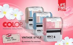"""New Printer """"Special Edition"""" by COLOP in Vintage style – by women for women The new """"Special Edition"""" version of COLOP's best-selling Printer Standard is something truly exceptional for 2013 – it is the first product to be made by women, for women."""