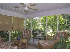 Screened in porch perfect for enjoying those long summer days.