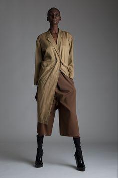 Vintage Issey Miyake Jacket and Isaac Mizrahi Cropped Trousers.