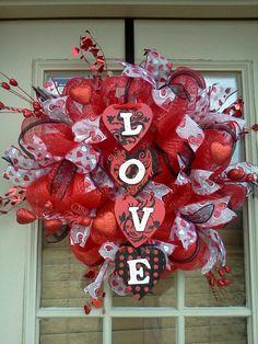 Valentine Deco Mesh Wreath Http Www Etsy
