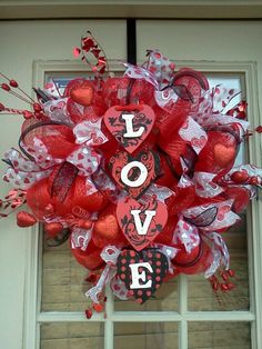 Valentine Deco Mesh Wreath