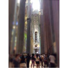 The beautiful Sagrada Familia ,
