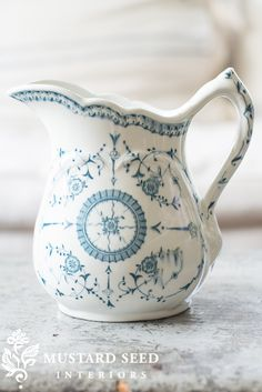 blue & white ironstone