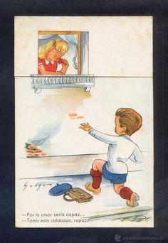 ILUSTRADOR *MOURO* ED. COLÓN - BENISI SERIE Nº 139-4. ESCRITA. (Postales - Dibujos y Caricaturas)