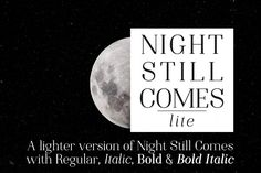 Night Still Comes Lite is an elegant serif font in two weights and styles! Night Still Comes Lite is a versatile soft serif font family with regular Best Free Fonts, Great Fonts, Serif Typeface, Sans Serif Fonts, Old Fonts, Modern Serif Fonts, Font Shop, Title Font, Creative Fonts