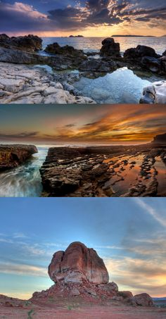 awesome rocky shore hdr