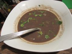 Black Bean and Coconut Milk Soup