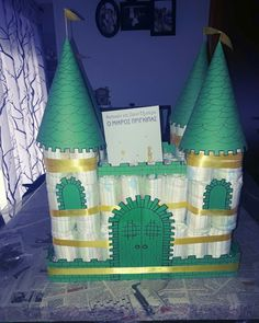 Baby diper cake!! Castle for prince .. le petit prince