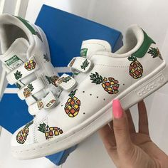 low priced 040f3 cca6a Adidas Stan Smith custom Pineapple  Sneakers