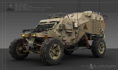 ArtStation - Military buggy v2, Darius Kalinauskas