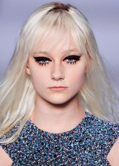 The face of fall beauty. Dramatic graphic eyeliner and defined lashes. #makeup #eyes #fall2014