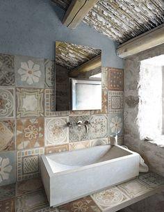 Ecological porcelain stoneware flooring MEMORY MOOD by Panaria Ceramica | #design Silvia Stanzani @CeramicaPanaria