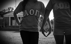 Saw this idea on pinterest, then made it work for sorority pics!