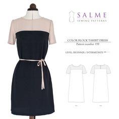 Digital Sewing Pattern - Color Block Dress