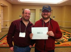 Puzzle Constructor Patrick Blindauer (right), alongside puzzler and game designer Mike Selinker